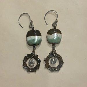 Boho style dangle earrings